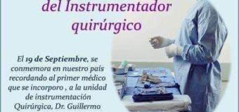 Feliz día del Instrumentador Quirúrgico.